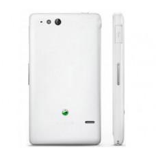Sony Xperia Go (ST 27) задняя крышка (бел)