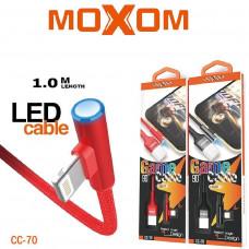 Lighning iPhone MOXOM CC-70 1м угол 90° (черн)