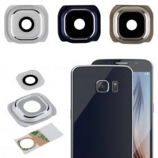 Samsung Galaxy S6 (G920F) стекло камеры (бел)