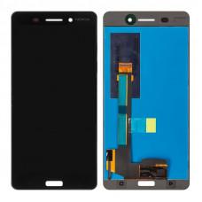 Nokia 6 (TA-1021) дисплейный модуль (черн)