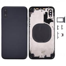 iPhone X задняя крышка (с рамкой)(black)