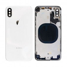 iPhone X задняя крышка (с рамкой)(white)
