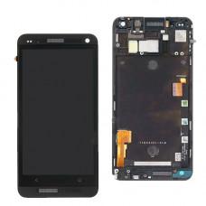 HTC One M7 дисплей (черн)