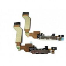 iPhone 4S шлейф СЗУ (бел)