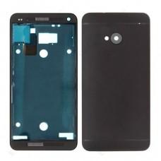 HTC One M7 задняя крышка (черн)
